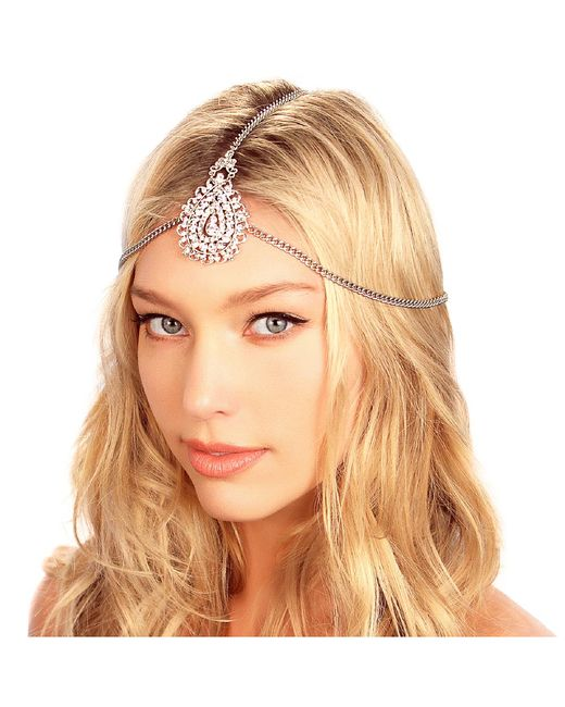 Kristin Perry | White Crusted Medallion Chain Headpiece | Lyst