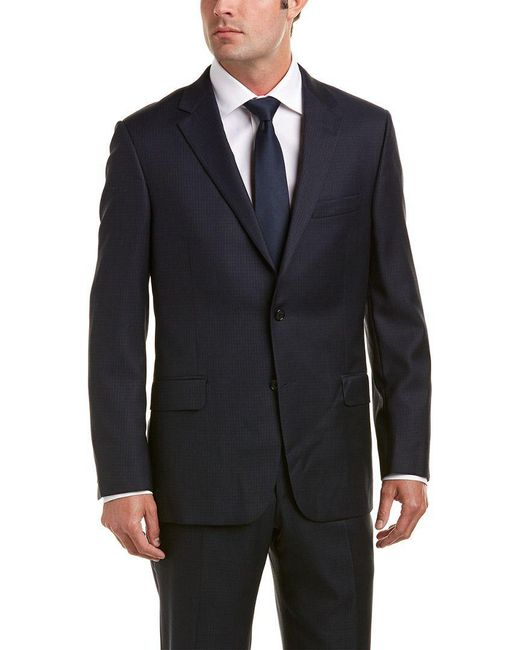 Hickey Freeman - Blue Wool Suit With Flat Front Pant for Men - Lyst