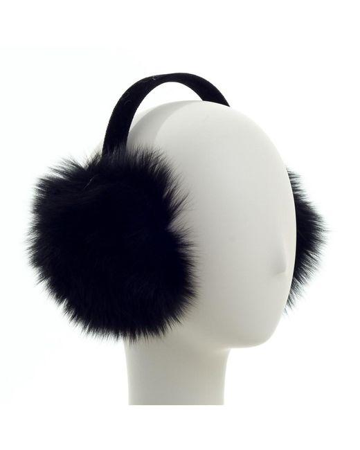 Saks Fifth Avenue - Black Fox Fur Earmuffs - Lyst