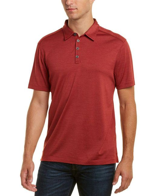 John Varvatos - Red Hampton Silk-blend Polo Shirt for Men - Lyst