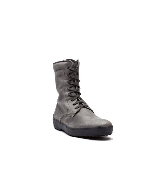 Tod's | Gray Men's Suede Sivaletto Winter Gommini Boot Shoes Grey for Men | Lyst