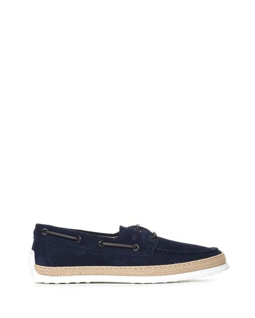 Tod's - Men's Xxm0tv05300re0u820 Blue Suede Loafers for Men - Lyst