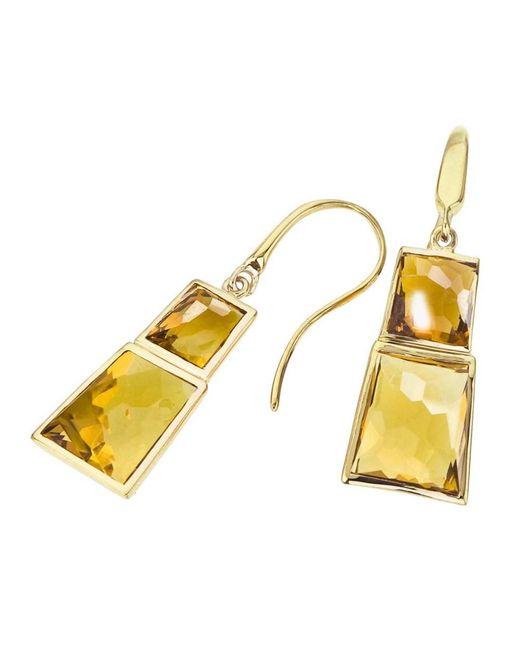 Jewelista - Yellow 18k Vermeil, Citrine & Honey Quartz Earrings - Lyst