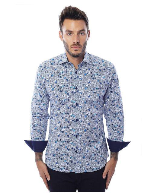 Bertigo | Blue Multicolor Buttons Graphic for Men | Lyst