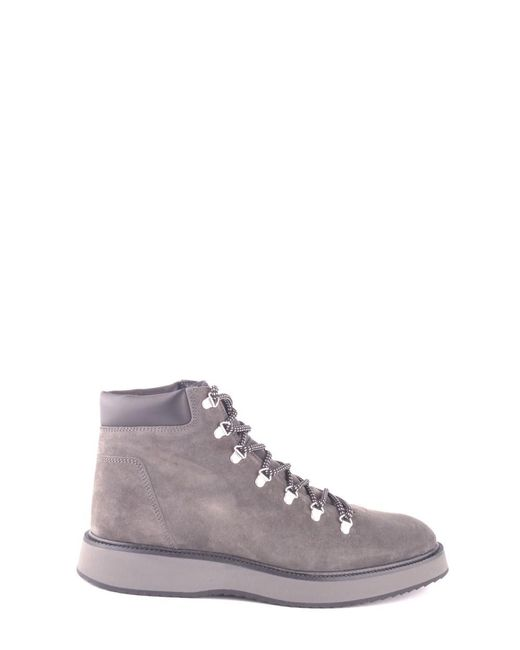 Hogan - Gray Men's Mcbi148377o Grey Suede Hi Top Sneakers for Men - Lyst