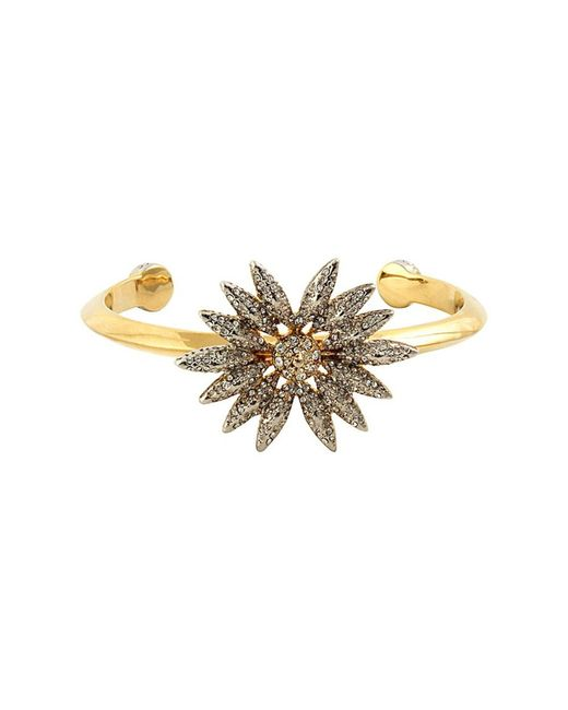 House of Harlow 1960 | Metallic 1960 14k Plated Crystal Cuff | Lyst
