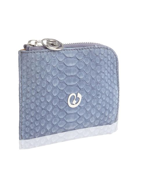 Nada Sawaya - Blue Medium Zip Around Python Wallet - Lyst