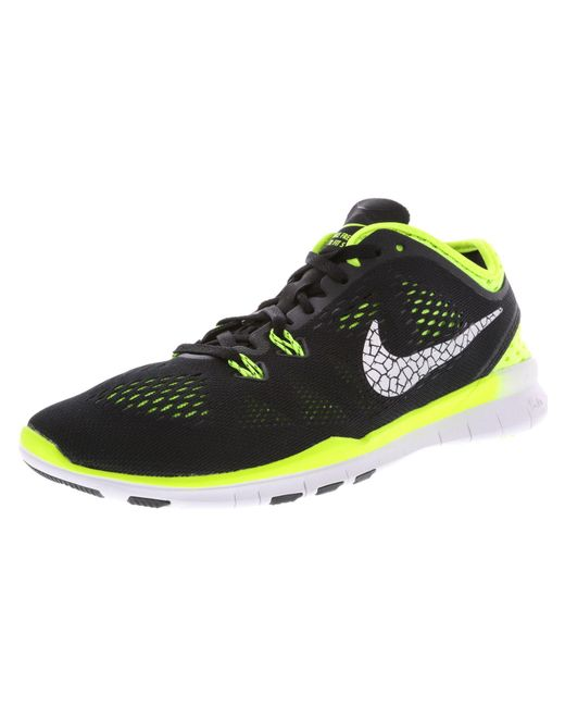 the best attitude a6a99 551ec Nike - Women s Free 5.0 Tr Fit 5 Brthe Black   Metallic Silver-volt Ankle