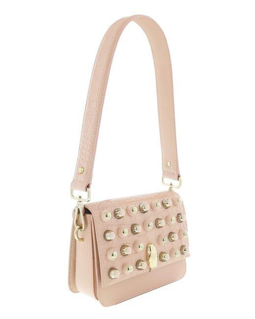 Roberto Cavalli - Brown Milano Bag Medium Milano Rmx 0 Nude Shoulder Bag - Lyst