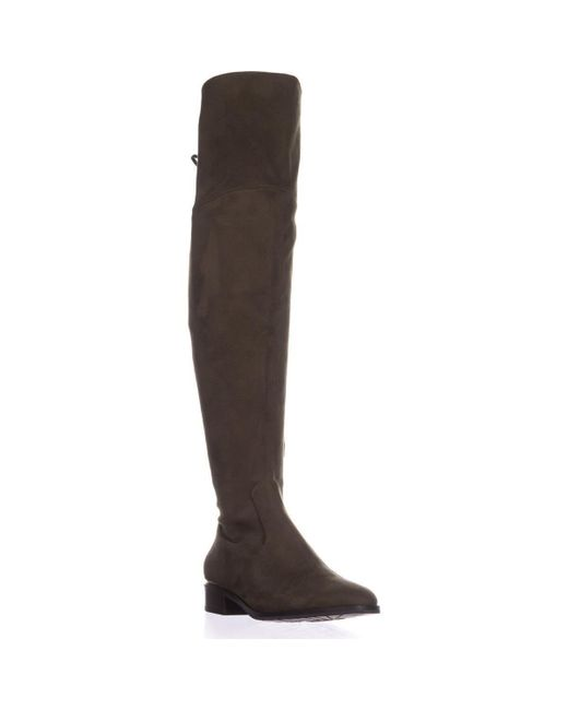Ivanka Trump - Brown Ivanke Trump Lnde Over The Knee Lace Up Boots, Dark Green - Lyst