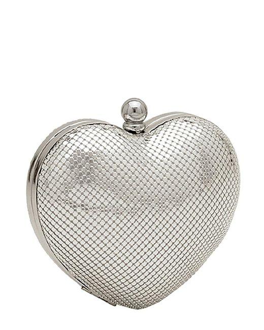 Whiting & Davis   Metallic Charity Heart Minaudiere   Lyst
