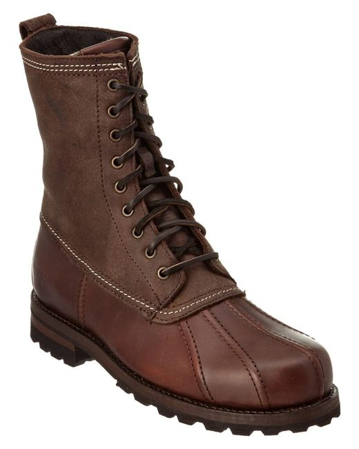 Frye - Brown Men's Warren Leather Duck Boot for Men - Lyst