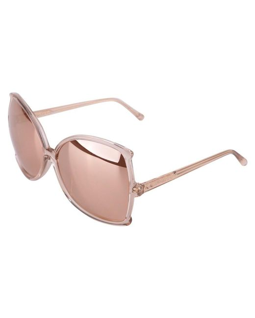 Linda Farrow - Metallic Women's Gold/pink Acetate Sunglasses - Lyst