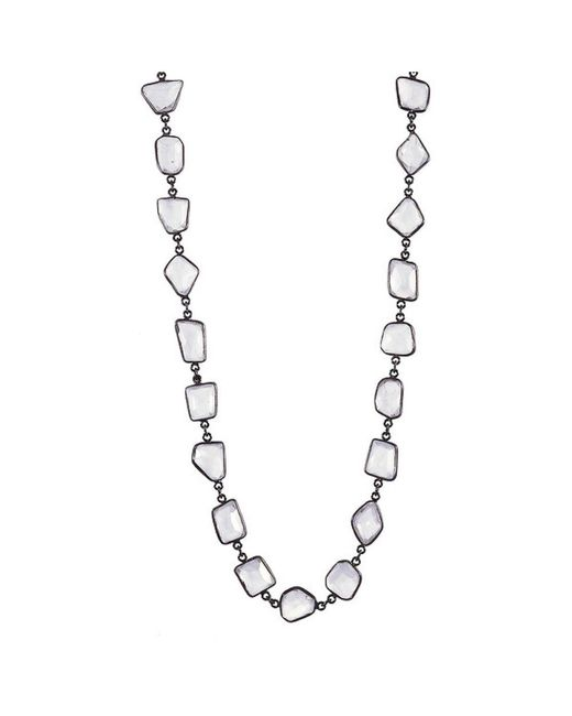 Adornia | White Moonstone Mila Necklace | Lyst