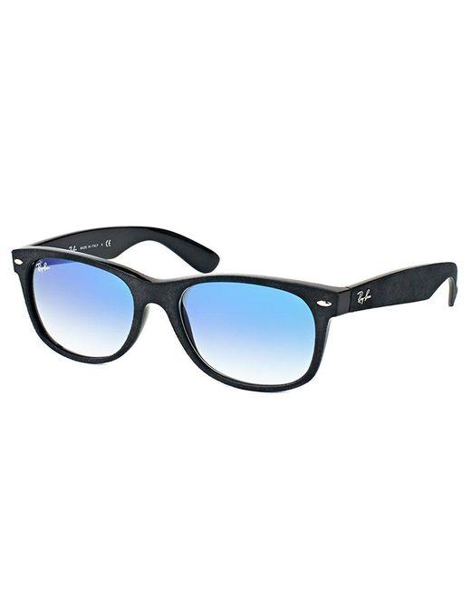 5ba647f818d Ray-Ban - New Wayfarer Rb 2132 62423f 52mm Black Rectangular Sunglasses -  Lyst ...