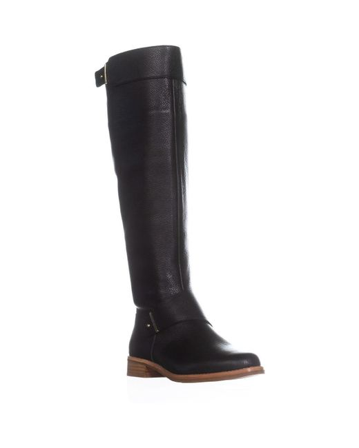 French Connection - Grant Riding Boots, Black - Lyst