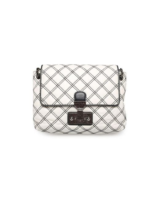 Marc Jacobs | Women's ¿the Large Single¿ Shoulder Cross Body Handbag White Black | Lyst
