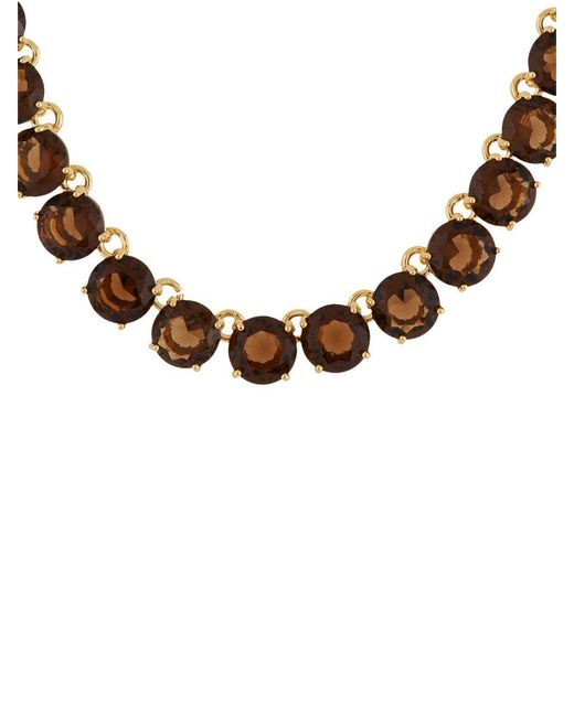 Les Nereides - Brown La Diamantine Smoky Quartz Round Stones Luxurious Necklace - Lyst