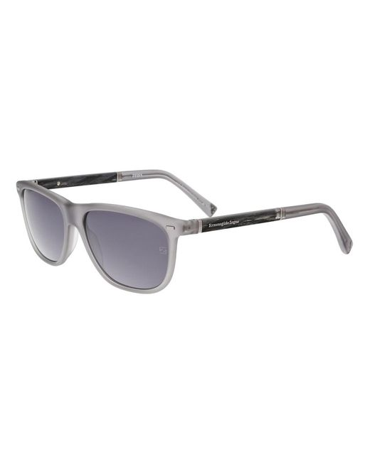 Ermenegildo Zegna - Green Ez0009/s 20a Matte Grey Rectangle Sunglasses for Men - Lyst