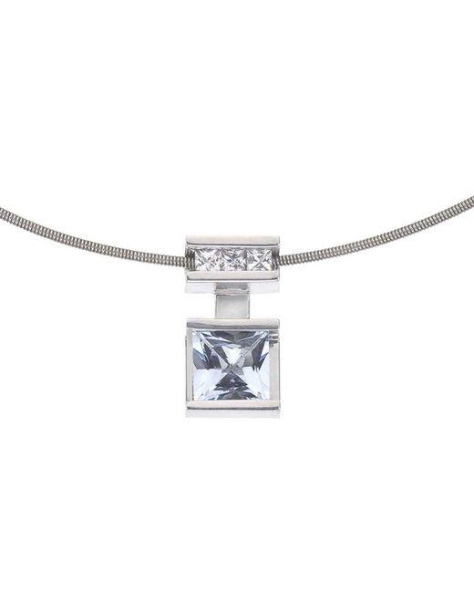 Jewelista - Mix-n-match White & Blue Topaz Sterling Silver Pendant - Lyst