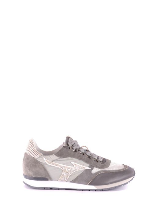 Mizuno - Gray Men's Grey Leather Sneakers for Men - Lyst