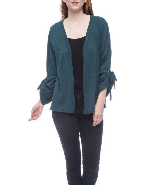 B Collection By Bobeau - Blue Nia Ruched Sleeve Knit Cardigan - Lyst