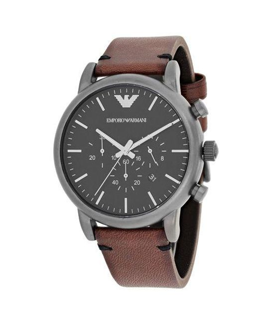 6e0a5922e Armani - Black Men's Watch for Men - Lyst ...