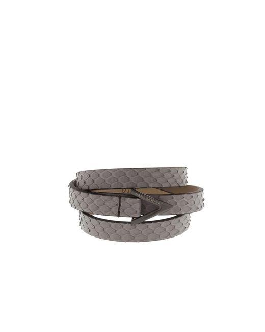 Nada Sawaya   Gray Wrap Me - 3 Rows Python Wrap Bracelet   Lyst