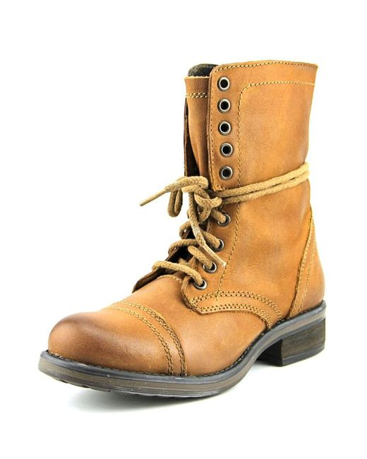 Steve Madden | Brown Tropa 2.0 Leather Combat Boots | Lyst