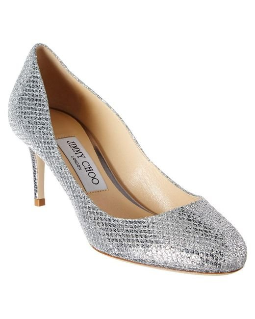 Jimmy Choo - Multicolor Bridget 65 Glitter Fabric Round-toe Pump - Lyst