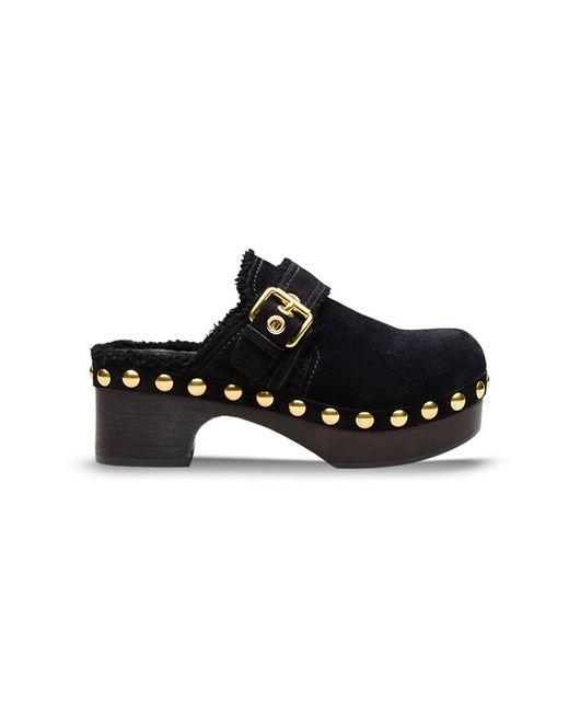 Car Shoe - Women's Kdz31ljftf0002 Black Suede Wedges - Lyst
