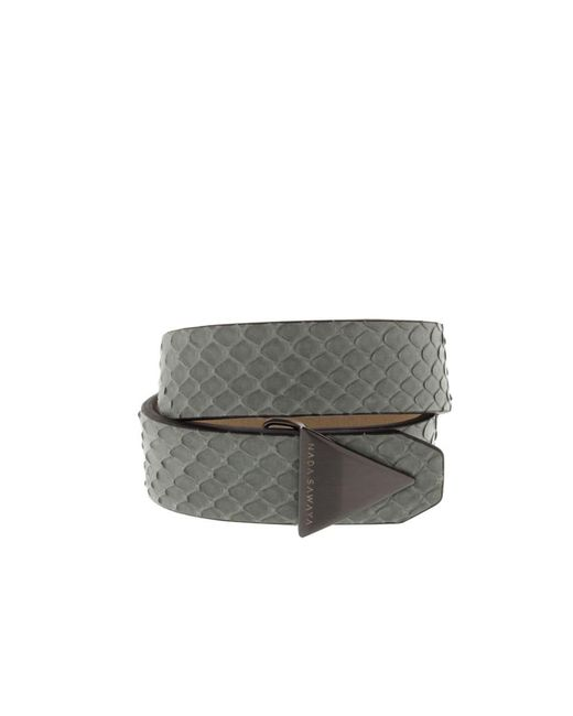 Nada Sawaya - The Double - Double Tour Python And Satin Black Nickel-tone Bracelet - Lyst
