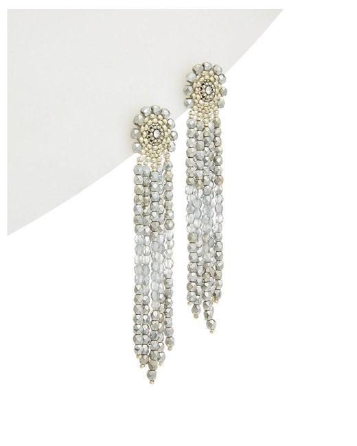 Miguel Ases - Metallic 14k Filled Crystal Drop Earrings - Lyst