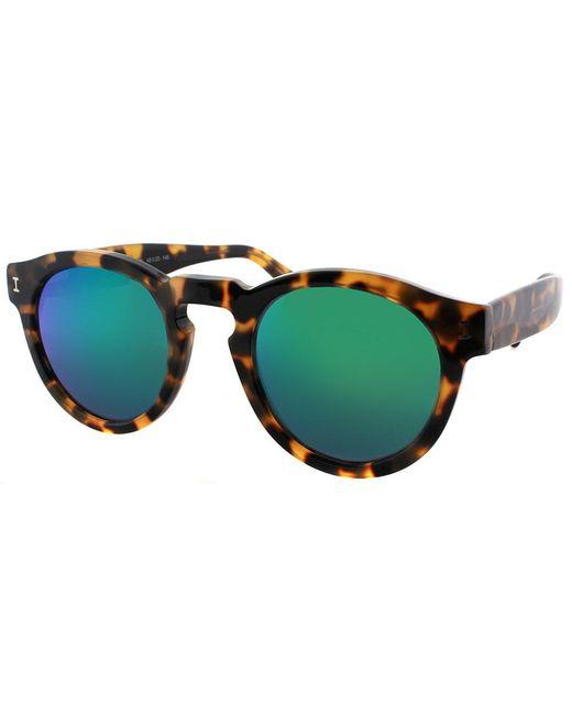 Illesteva - Brown Leonard L-04gm Round Plastic Sunglasses - Lyst