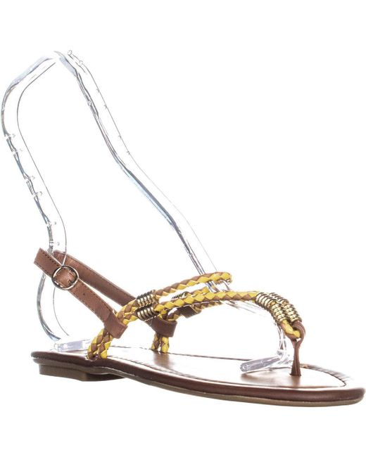 Chinese Laundry - Multicolor Cl Clementina Thong Sandals, Tan/yellow - Lyst