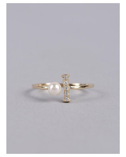 Armitage Avenue | Metallic Pearl And Stone Mixed Ring | Lyst