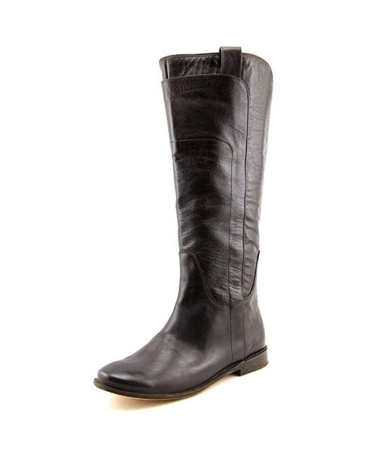 Frye   Brown Paige Tall Riding Round Toe Leather Knee High Boot   Lyst