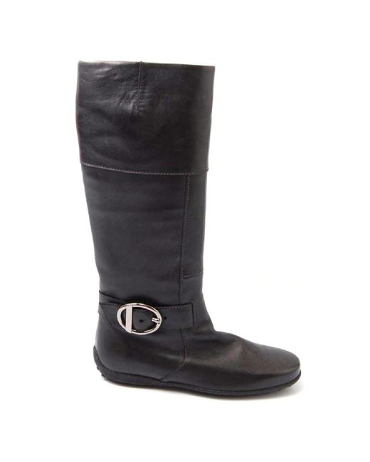 Tod's - Black Ladies High Boot - Lyst