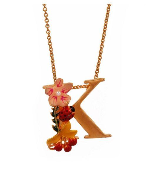 Les Nereides   Metallic Alphabet Fleuri Necklace   Lyst