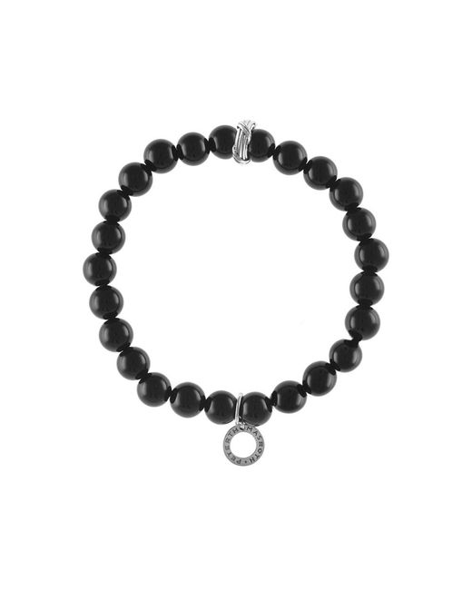 Peter Thomas Roth Fine Jewelry | Peter Thomas Roth Explorer Mens Bead Stretch Bracelet Black Onyx Gemstone Sterling Silver for Men | Lyst