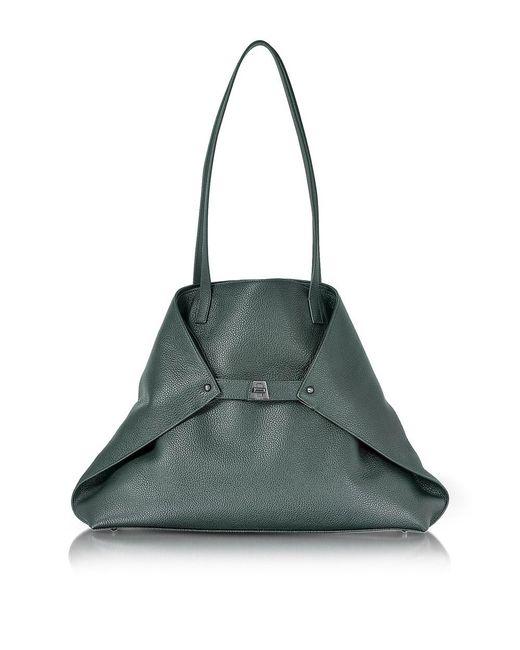 Akris | Women's Green Leather Tote | Lyst