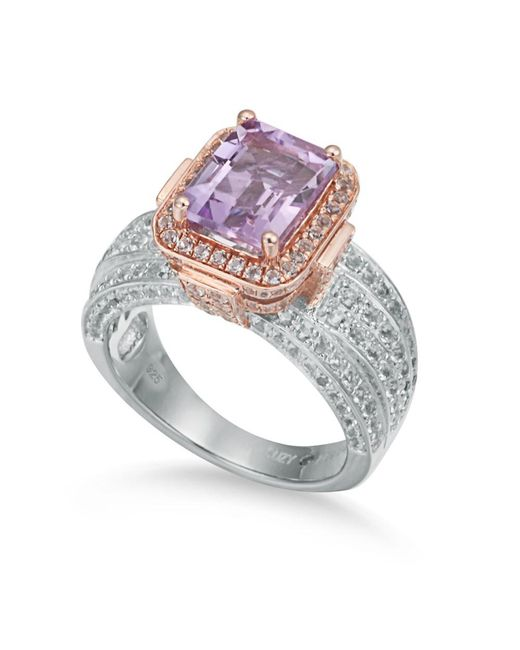 Suzy Levian | Metallic Two-tone Sterling Silver 4.88 Tcw Purple Amethyst | Lyst