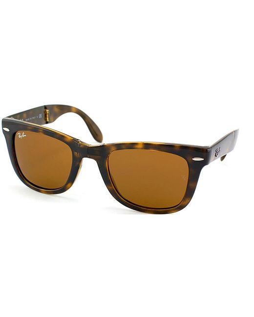 Ray-Ban - Brown Foldable Wayfarer Plastic Sunglasses - Lyst