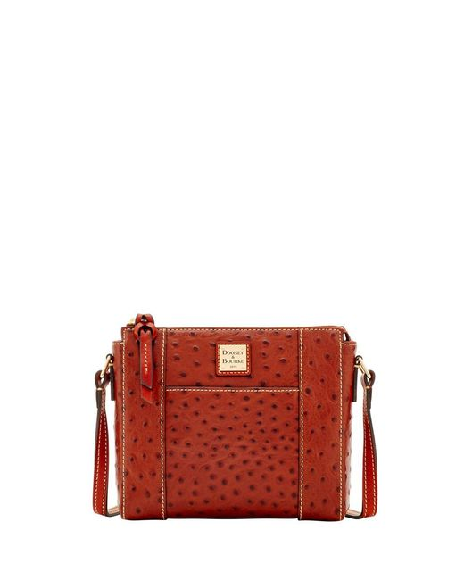 Dooney & Bourke - Red Ostrich Lexington Crossbody - Lyst