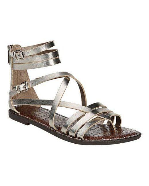 349eaaede239 Lyst - Sam Edelman Women s Ganesa Sandal in Metallic