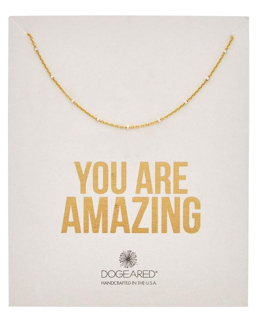 Dogeared - Metallic 14k Over Silver You Are Amazing Necklace - Lyst