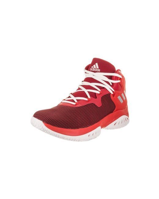 62b35ad0e76 Lyst - Adidas Men s Explosive Bounce Basketball Shoe in Red for Men