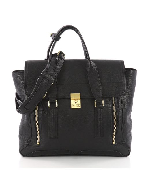 3.1 Phillip Lim - Black Pre Owned Pashli Satchel Leather Large - Lyst