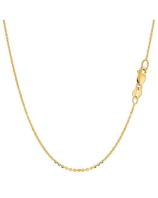 JewelryAffairs | 14k Yellow Gold Cable Link Chain Necklace, 1.1mm, 16 Inch | Lyst