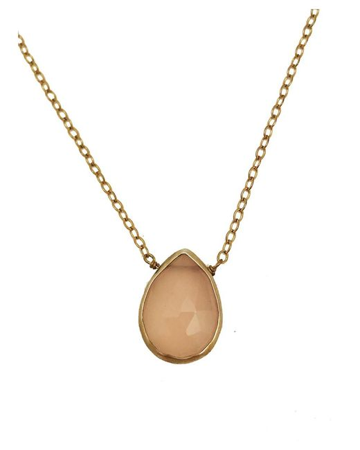 Blue Candy Jewelry | Sweet Tart Pink Chalcedony Gold Necklace | Lyst
